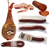 ENVÍO GRATIS, Paletilla, Bacon, Lomo Embuchado, Salchichón, Chorizo, Longaniza con trufa y Salchichón con setas. L12