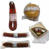 ENVÍO GRATIS, Queso tipo Tronchón, Cuña queso, Salchichón, Chorizo y Longaniza de trufa. L15